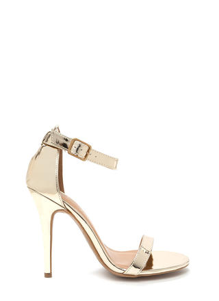 Beautiful Gleam Strappy Metallic Heels