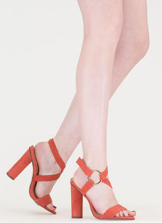 New Destination Chunky Woven Heels