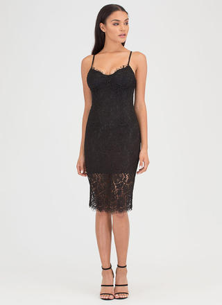 Bat Your Eyelashes Lace Overlay Dress