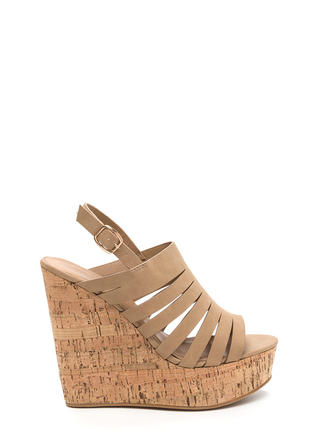 Take A Peek Cut-Out Platform Wedges