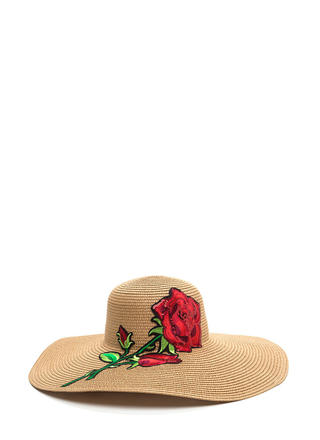 Sunny State Embroidered Rose Hat