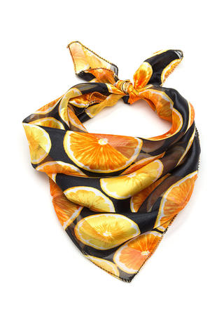 Orange You Glad Sheer Striped Scarf