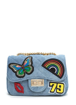 Patch Up Quilted Denim Bag
