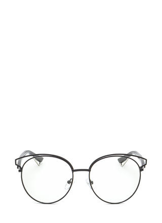 Next Round Clear Retro Glasses
