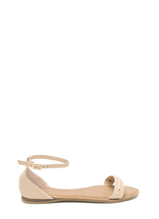 Chain Time Strappy Faux Nubuck Sandals