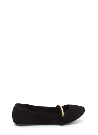 Everyday Chic Faux Nubuck Ballet Flats