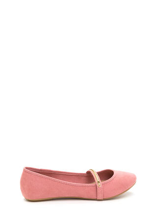 Everyday Chic Faux Suede Ballet Flats
