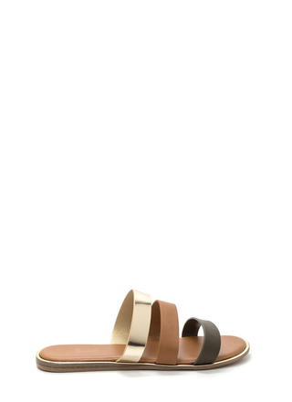 Chic Now Strappy Slide Sandals