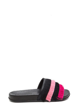Fringe Society Slide Sandals