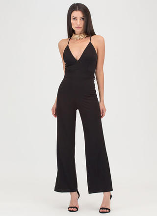 Lace To The Finish Wide Leg Jumpsuit
