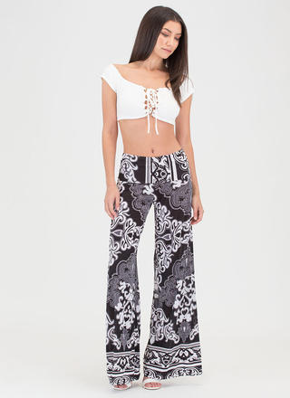 Filigreed Fantasy Palazzo Pants