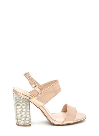 Radiant Design Chunky Metallic Heels