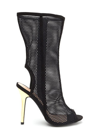 Net Result Cut-Out Metallic Heel Booties