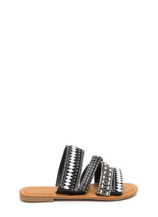 Fest Coast Style Strappy Slide Sandals