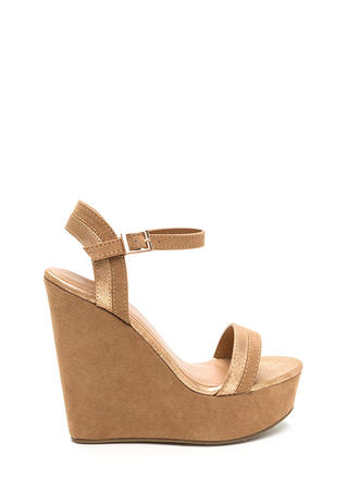 Chic Secret Faux Suede Platform Wedges