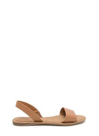Simple Pleasures Faux Leather Sandals