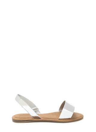 Simple Pleasures Faux Patent Sandals