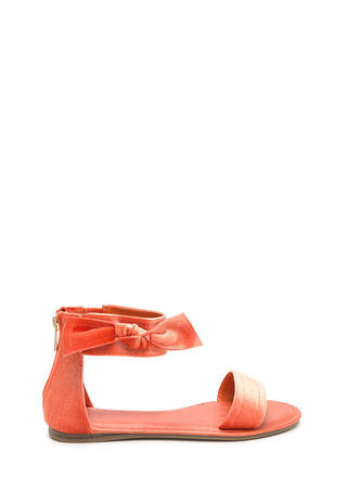 Can You Knot Velvet Bow Sandals