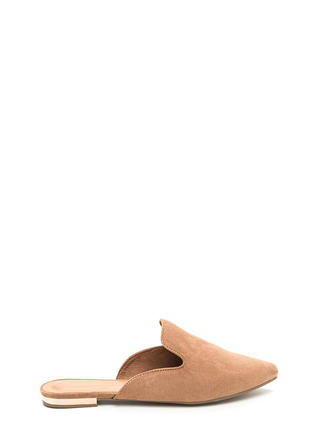 The Easy Life Faux Suede Mule Flats