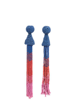 Bead Them All Long Tassel Earrings