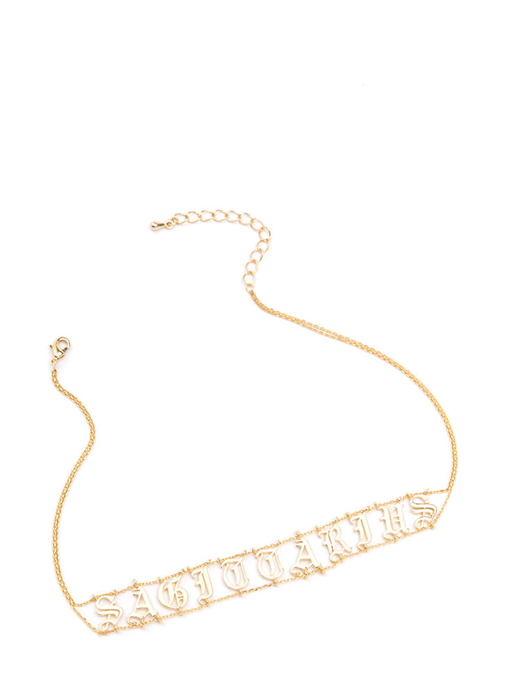 Astrology Talk Sagittarius Chain Choker
