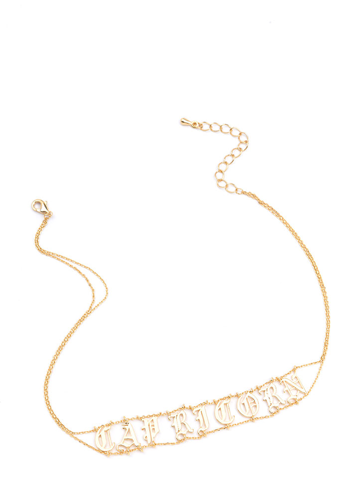 Astrology Talk Capricorn Chain Choker