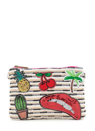 Patch Made In Heaven Woven Clutch
