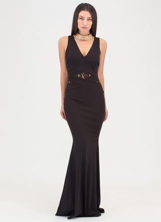 Lace Get Started Cut-Out Mermaid Maxi