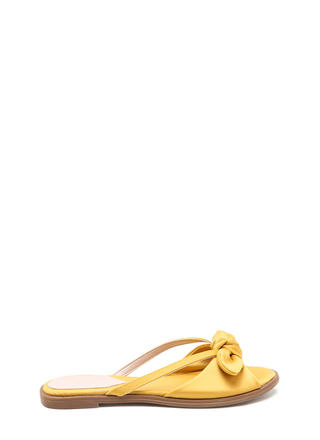 Bow Em Gee Satin Slide Sandals