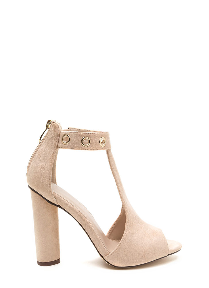 Hole-some Cut-Out Chunky Heels