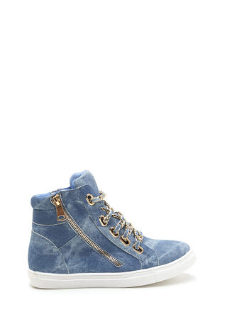 Mood Chain-ge Denim High-Top Sneakers