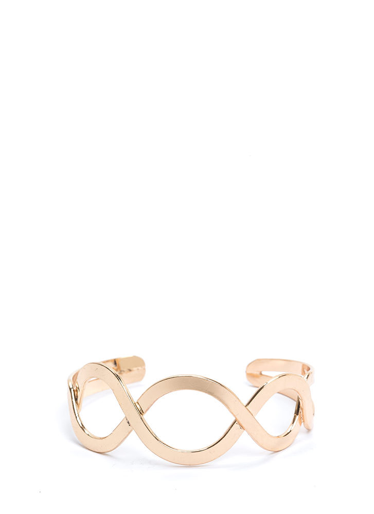 Graceful Lines Cut-Out Cuff Bracelet
