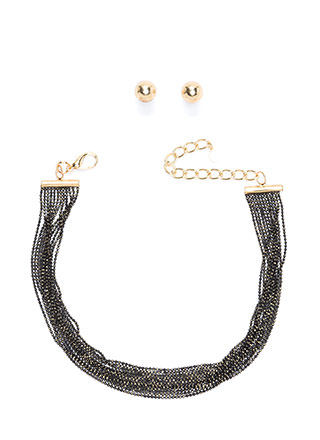 Chain-ge Of Scenery Layered Choker