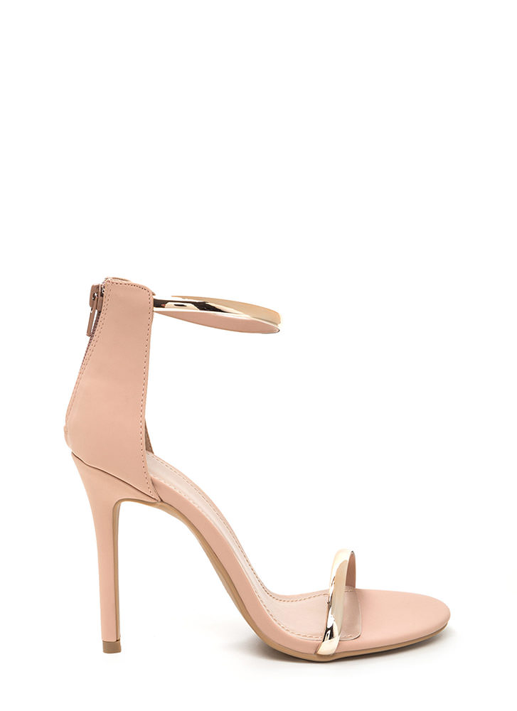 Born To Shine Ankle Strap Heels
