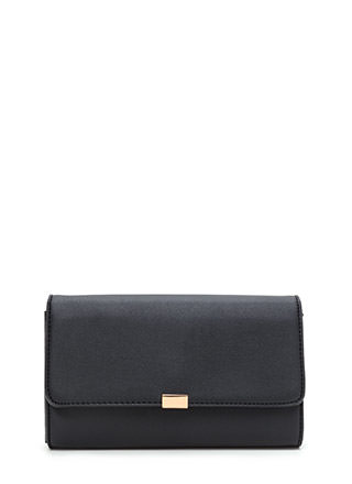 Dinner Date Faux Leather Clutch