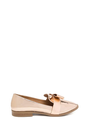 Bow Getter Metallic Loafer Flats