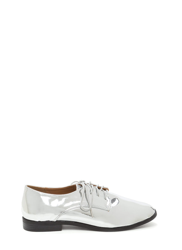 Polished Finish Metallic Oxford Flats