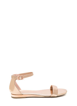 Toe The Line Strappy Metallic Sandals