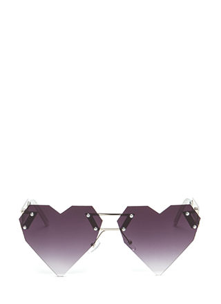 Change Of Heart Rimless Sunglasses
