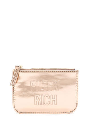 Filthy Rich Metallic Coin Purse