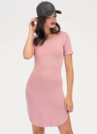 New Bae-sic Bodycon Tee Dress