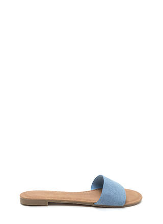 Slipper Away Denim Slide Sandals