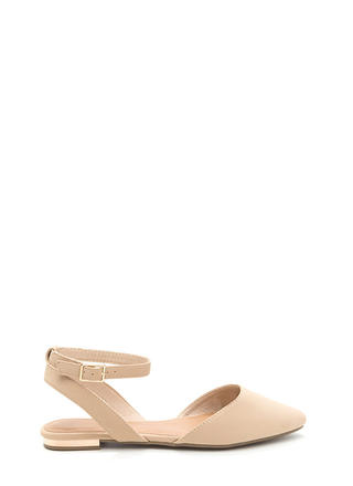 Chic For You Faux Nubuck Sandals