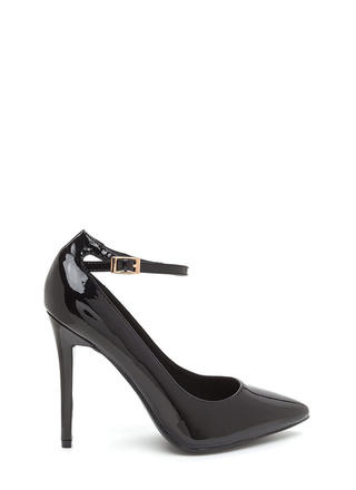 Match Point Faux Patent Heels