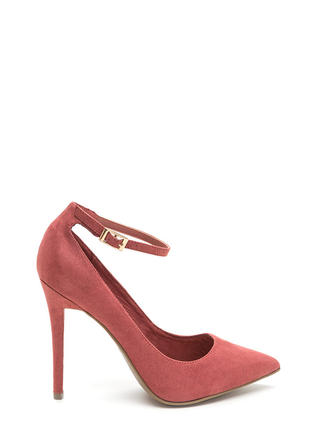 Match Point Faux Suede Heels