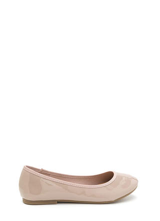 Go Anywhere Faux Patent Ballet Flats
