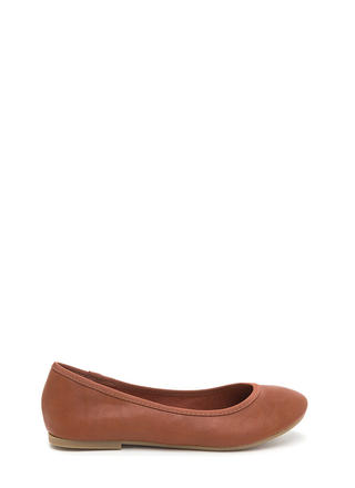 Go Anywhere Faux Leather Ballet Flats