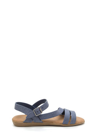 Jean On Me Strappy Faux Nubuck Sandals