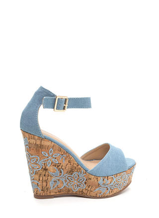 Bloom For More Denim Wedges