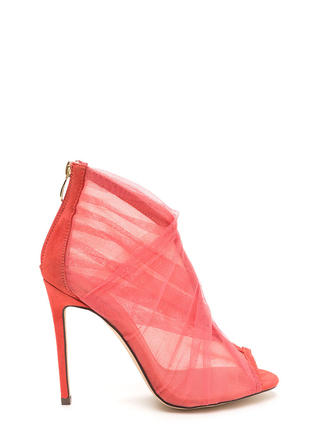 Sheer You Are Peep-Toe Heels